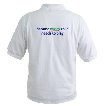 RePlay for Kids golf shirt back