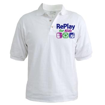 RePlay for Kids golf shirt front